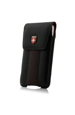 Swiss Leatherware Lenzburg Case for iPhones and Medium Bar Phones - Black