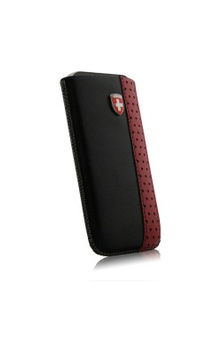 Swiss Leatherware Ardez Pull-Tab Pouch for Apple iPhone