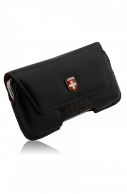 Swiss Leatherware Bern Case for iPhones and Medium Bar Phones - Black