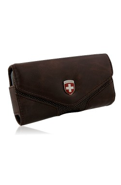 Swiss Leatherware Lugano Case for Most PDAs - Brown