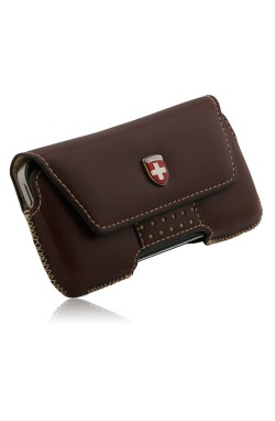 Swiss Leatherware Bern Case for iPhones and Medium Bar Phones - Dark Brown