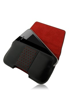 Swiss Leatherware Bern Case for iPhones and Medium Bar Phones - Black
