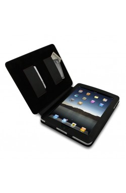 Swiss Leatherware Bank for Apple iPad - Black